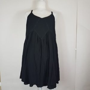 Torrid black flowy spaghetti strap dress size 2